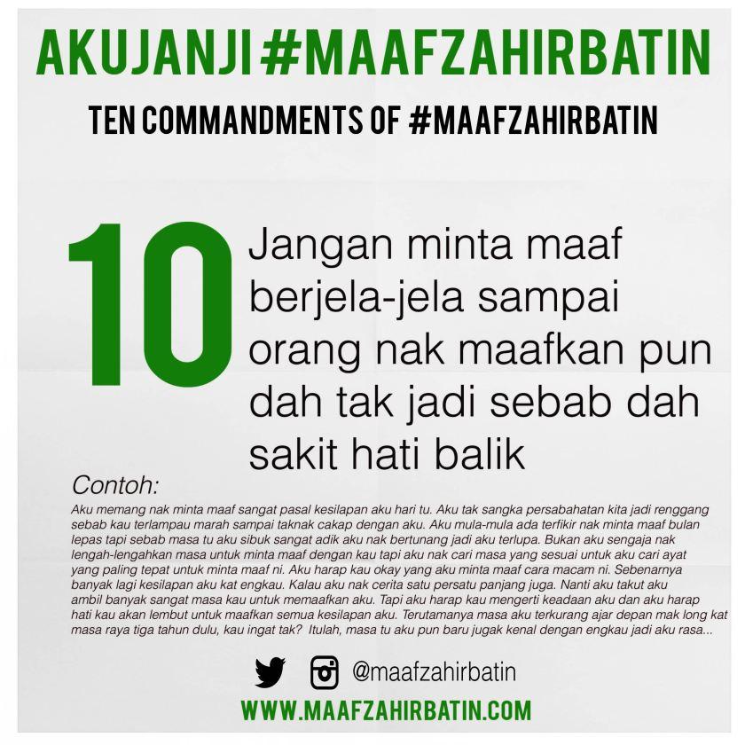 Akujanji Maaf Zahir Batin Insta 10-01